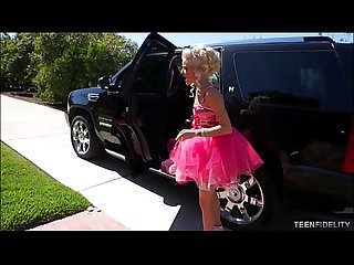 Beauty pageant princess halle von filled with big white cock