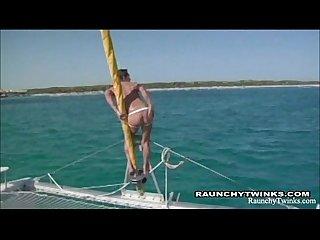 Sail boat horny twinks fucking