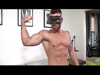Ripped masked stud whips it out and plays with himself bestgaycams xyz