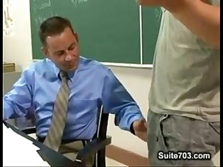 Dominant student turn his teacher into Moaning whore
