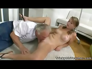 Tricky Old Teacher - Kira is struggling in her teachers class