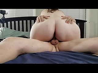 Bbw huge tit wife riding my dick and big creampie