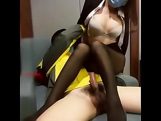 Chinese Cam Girl Fucks Delivery Man. Watch more:..