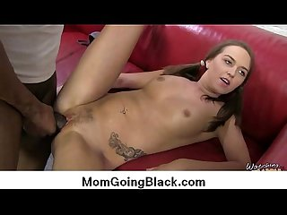 Milf babe gets black monster 6