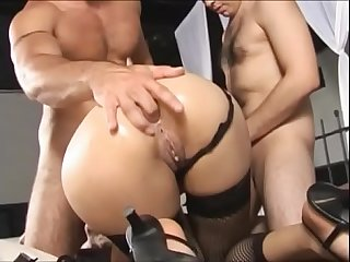 Slutty brazilian milf slammed by two younger boys vol period 4
