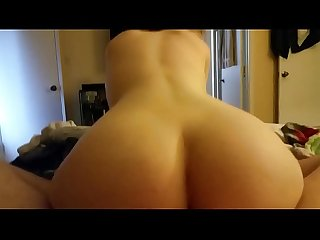Big ass riding hard cock and creaming on it