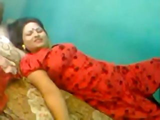 indian man fucking sexy sali pussy in red saree in home