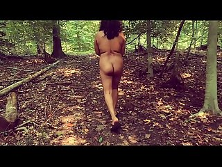 Amateur indian housewife mirchi Bhabhi getting naked fucking and peeing in the forest