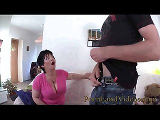 Old bitch sucking young cock