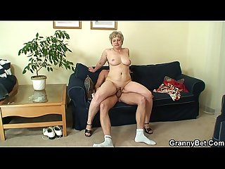 60 years old granny swallows big dick
