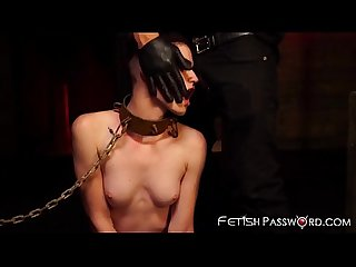Restrained lydia black receives merciless pussy hammering