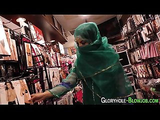 Muslim babe rides bbc