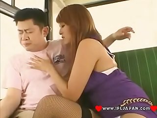 Japanese bitch azusa isshiki real Blowjob on The bus more Japanese Xxx full hd porn at www period if