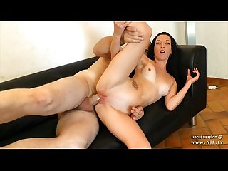 Young smoking french amateur ass pounded and creamed for her casting couch