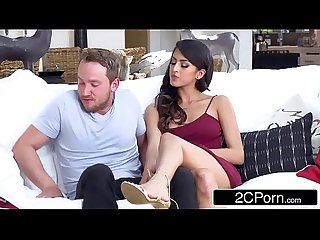 Latina stepmom ariella ferrera stepdaughter sophia leone double team lucky bf
