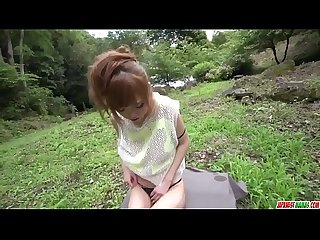 Fantasy outdoor sex in POV with slim Mikuru Shiina - More at Japanesemamas com