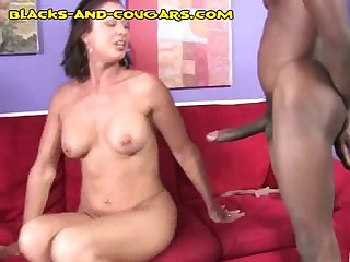 Nice black cumshot on milf