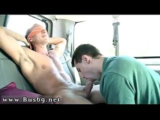 Twink solo Cum shot Gay Porn Ass to fuck on the baitbus