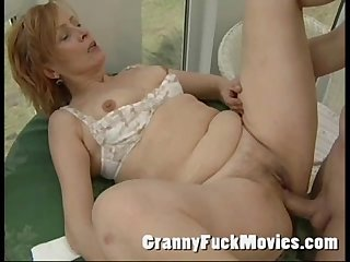 Fresh grandma fucked by stud