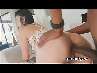BBC anal with tight Japanese ass
