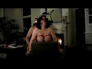 Playing with My bbw wife in the living room