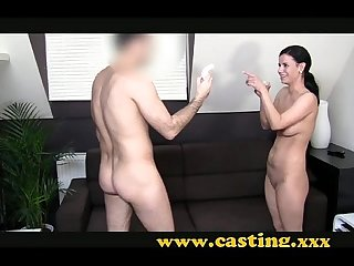 Casting european babe is anally intrigued