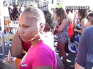 Woman With Incredible Booty Wearing See Through Pants At Summer Jam 2010