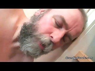 Grandpa fucks hot babe