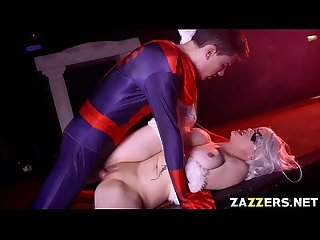 Spidey drilling The Black Cats pussy webbing a cumload