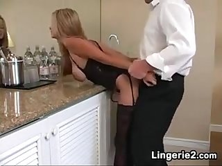 Blonde MILF Wearing Lingerie Wants His Dick HotWifeRio.com