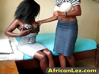 Strapon Lesbian Action With Two Horny Ebony Slutsta