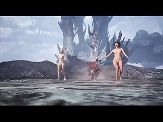 Trish, Lady and Nico Nude mod - Devil May Cry 5