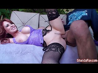 Kinky Canadian MILF Shanda Fay Gets Fucked In Her Backyard!