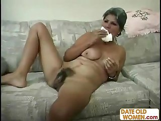 Plump hairy milf gets big dick