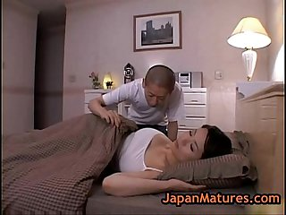 Mature bigtit miki sato masturbating on bed 2 by japa