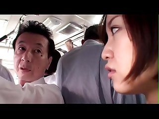 Japanese wife gets abused on the bus - full xfoxxx .com
