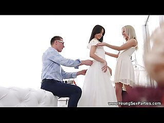 Young Sex Parties - Dress fitting and a threeway Stefy Shee, Michelle Can
