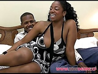 Hot Black BBW Gettin' Freaky On Film