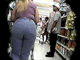 Candid booty jeans and boots a little bit bcountry comma long ponytail