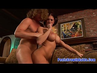 Hot brunette Eve laurence sucked a big cock and get fucked