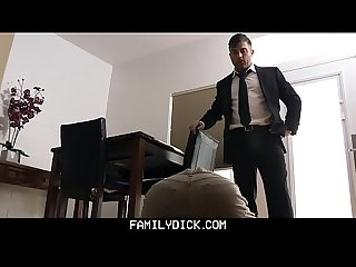 FamilyDick - Horny Boy Gets Fucked By StepDad After Caught Jerking Off