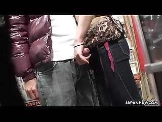 Voyeur catches a couple have oral in a sex shop