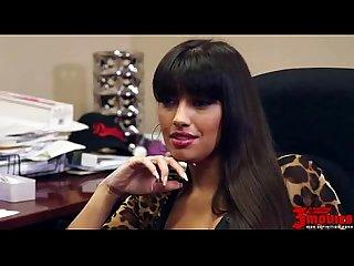 Horny latina fucked in office