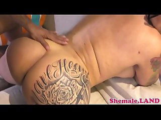 Rimmed ts assfucked doggystyle by black dick