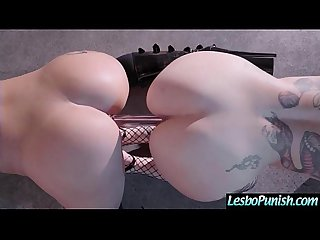 Lesbian Girls (Katrina Jade & Leigh Raven) Use Dildos To Punish Each Other mov-16