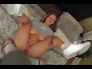 Big natural tits blonde in amateur POV porn