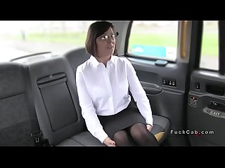 Hot mom rims and fucks fake taxi driver
