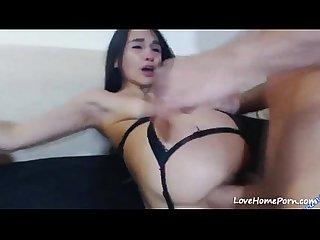 Hard anal para una adolescente caliente mientras ella pide ms
