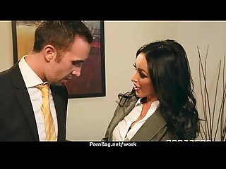 Submissive office busty assistant finally fucks her boss 17