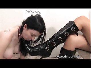 Shoe shining slave